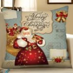 Christmas Style Digital Printing Square Pillow Case Sofa Cushion Cover