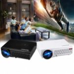 Excelvan 96 Native 1280 -800 support 1080p Led Projector Black US PLUG