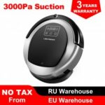 LIECTROUX B6009 Robot Vacuum CleanerSmart Memory Suction 3000pa Dual UV Lamp