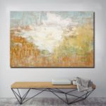 QINGYAZI HQS19110 Hand-painted Abstract Oil Painting Frameless Paintings Home Wall Art