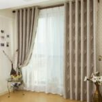 European Jacquard Blackout Curtains Living Room Bedroom Children's Room Grommet Curtains