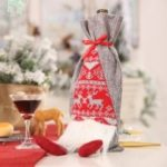 Christmas Faceless Doll Simulation Beard Old Man Gift Bag Wine Bottle Decorative Bag