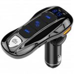 BC55 Car Bluetooth 5.0 Hands-free MP3 Player Wireless FM Transmitter PD Fast Charging QC 3.0 USB Charger with Voltage Detection