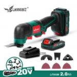LANNERET Oscillating Tool 20V Li-ion Kit Multi-Tool Variable Speed Cordless Electric Trimmer Saw