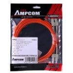 AMPCOM Multumode Duplex 50 125 LZSH Fiber Cable SC to SC Fiber Patch Cord