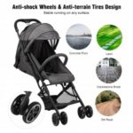 WIPALO Lightweight Compact Stroller with Foldable Design and Adjustable Seat – France