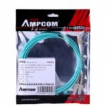 AMPCOM 10Gb Multumode Duplex 50 125 LZSH Fiber Cable LC to SC OM3 Fiber Patch Cord