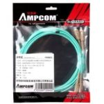 AMPCOM 10Gb Multumode Duplex 50 125 LZSH Fiber Cable SC to SC OM3 Fiber Patch Cord
