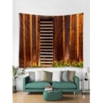 Wooden Board Door Print Tapestry Wall Hanging Art Decoration