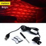 K8 Vehicle Mounted Meteor Ceiling Lamp Armrest Projector Spotlight Flash Breathing Light Sound Control Remote Control Starry Sky Effect/Meteor Effect