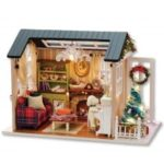 DIY Wooden House Furniture Handcraft Miniature Box Kit – Holiday Time