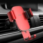 Baseus Universal Car Mobile Phone Holder Bracket Gravity Linkage Air Vent Stand Mount Vehicle Navigation Base