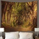 Forest Road Landscape Design Tapestries Home Decor Blanket