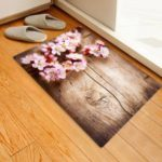 Beautiful Cherry Wood Pattern Carpet Home Decor Mat