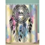 Boho Dream Catcher Print Waterproof Bathroom Shower Curtain