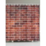 Brick Wall Print Waterproof Bathroom Shower Curtain