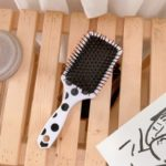 Simple Black And White Dots Hair Comb Massage Comb Portable