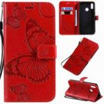 Butterfly Embossing PU Phone Case for OPPO Realme 3