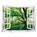 Window Green View Creative Home Bedroom Living Room Decoration Hanging Tapestry Beach Cushion Shooting Background Cloth