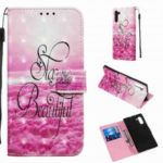Multi-Pattern 3D Painted PU Phone Case for Samsung Galaxy Note 10