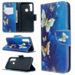 Big Butterfly Painted PU Phone Case for Xiaomi Redmi Note 8T