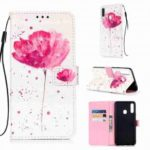 Golden Butterfly 3D Painted PU Phone Case for Samsung Galaxy A20S