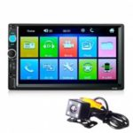 7010B TFT Screen 12V Car Audio Stereo MP5 Player Auto Video with Rearview Camera  -0212