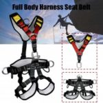 Professional Detachable Climbing Harnesses Full Body Safety Belt Saddle 5 fixed Points Anti Invert