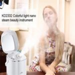 Portable Home Use Beauty Salon Infrared Led Therapy Deep Cleaning Facial Steamer Vaporizer Spa spray
