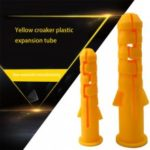 300Pcs M6 Ribbed Plastic Anchors Wall Plastic Expansion Pipes Screws Expansion Tubes