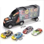 Toy Truck Transport Car Carrier with 4 Toy Cars Gift for Children