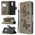 Embossed Two Butterflies PU TPU Phone Case for Xiaomi Redmi K30