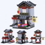WANGE Kids Educational Toy Building Blocks Ancient Chinese Street Scene Series Assemble Bricks Model Toys for Children