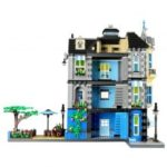 Wange DIY Building Blocks Street Construction Garden Cafe Assembled Series