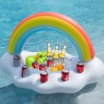 Cloud Inflate Floating Inflatable Rainbow Toy Cup Holder