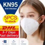 DHL KN95 N95 Surgical Respirator Antibacterial Face Mask Virus Protection with Melt-blown Filter