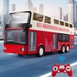 E640 Simulation Remote Control Double layer Bus Realistic Sound and Light RC City Bus Car Toys