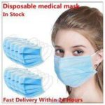 LQY 60 PCS Medical Mask Non-Woven Fabric 3-Layer Dust-Proof Disposable Mask Safe And Breathable