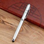 4 in 1 Multi-function Infrared Metal Ball-point Pen Capacitive Stylus Pen
