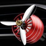 Propeller Shaped Car Aromatherapy Diffuser Air Outlet Perfume Clip Creative Zinc Alloy Rotating Atmosphere Lamp