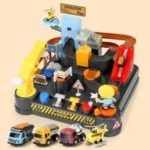 Engineering Adventure Car Challenge Board Game Children Educational Track Mixer Toy Kit