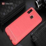 Solid Color Brushed Carbon Fiber Phone Case for Samsung Galaxy A30/A20