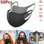 sponge mask black breathable face mask mouth reusable mask AntiPollution facial shield wind proo94