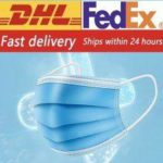 DHL Fedex Free shipping Hygiene Mask DUST-FILTER Disposable Anti-Pollution 3 Lay Face Mouth Mask