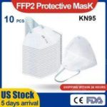 Fast Ship FFP2 KN95 Mask Filtration Face Mask Anti-Dust PM2.5 Fog Protective Mask