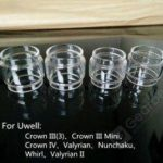 10pcs Extended Bulb Glass Tube for Uwell Crown 3 IV Valyrian II Nunchaku RTA Atomizers Replacement