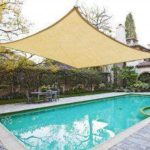 13x10ft Rectangle Sun Shade  Sail Square Canopy Sunscreen Awning UV Block Sail Garden Patio