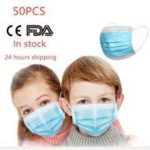50PCS Children Masks 3 Layer Non-Woven Mouth Mask Anti-Flu Kids Non-medical  Disposable Mask PM2.5
