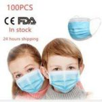 100pcs Children Masks 3 Layer Non-Woven Mouth Mask Anti-Flu Kids Non-medical  Disposable Mask PM2.5