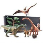 Natural Science Figure Set Plastic Dinosaur Toy for  Kids Indoor Play Gift